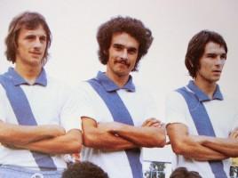 Frandoli (al centro) nel mitico Treviso anni settanta