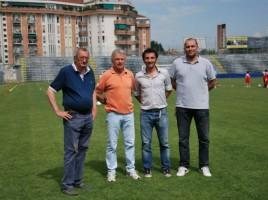 """Caludio """"Caio"""" Cavallin con Colusso, Bosi e Beghetto"""