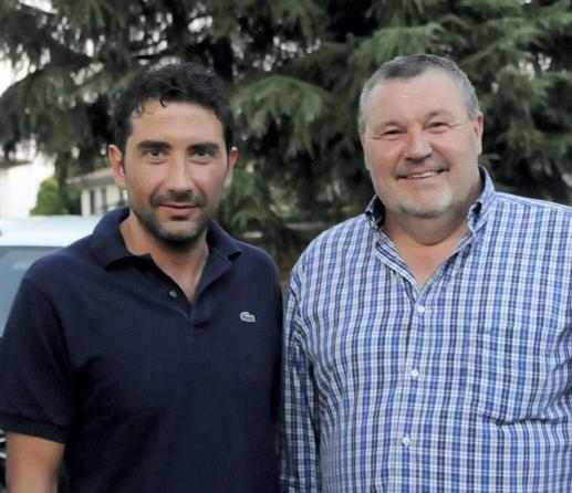 Mister Zanon e il presidente Stelio Carletto Eurocalcio Cassola