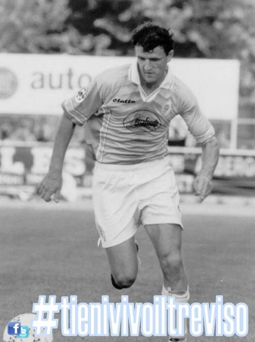 """Flavio """"Pippo"""" Fiorio, al Treviso Calcio per quattro campionati, dal 1994 al 1998, tra Interregionale e Serie B, è il miglior realizzatore biancoceleste con 63 gol in 133 presenze (oltre a 3 gol in 15 presenze in Coppa)."""