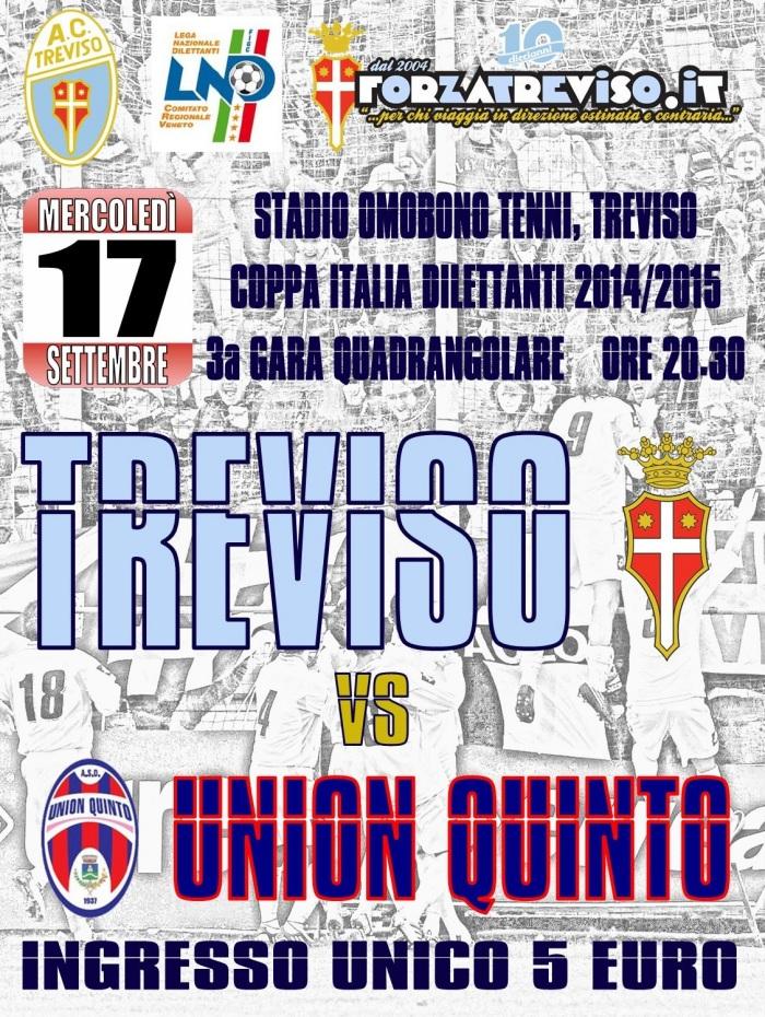 Locandina Treviso-Union Quinto Coppa Italia