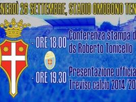 Locandina presentazione Treviso calcio