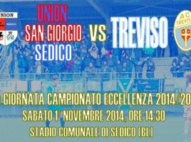 Locandina Union San Giorgio Sedico - Treviso