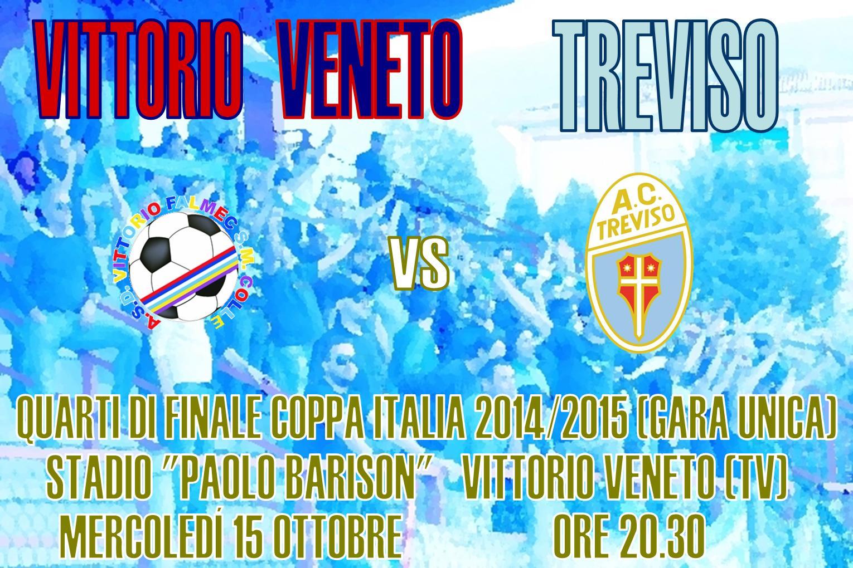 Locandina Vittorio Veneto-Treviso Coppa Italia