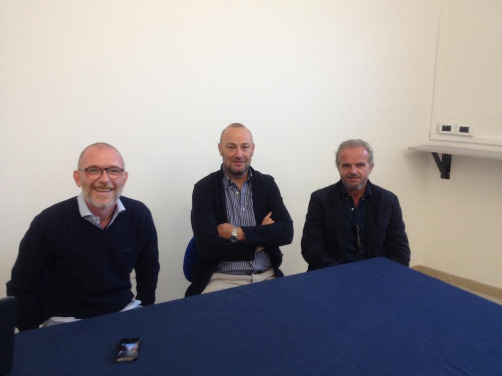Schettino e la dirigenza di Treviso Academy (foto radio Veneto Uno)