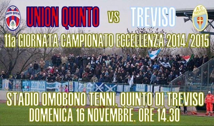 Locandina Union Quinto-Treviso