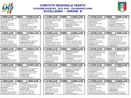 Calendario Eccellenza Veneto girone B 2015-16