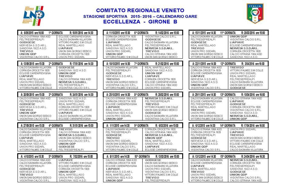 Calendario Eccellenza 2021 ESORDIO CASALINGO Pubblicato il calendario della stagione 2015/16
