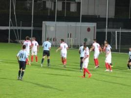Una azione dell'incontro Nervesa-Treviso - Foto da: acdtreviso.it