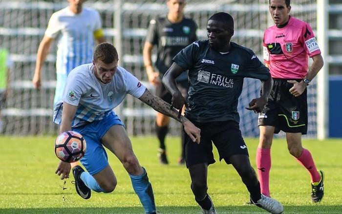 Un grintoso Carraro nel match di andata (foto A. Arcoraci-Acd Treviso)