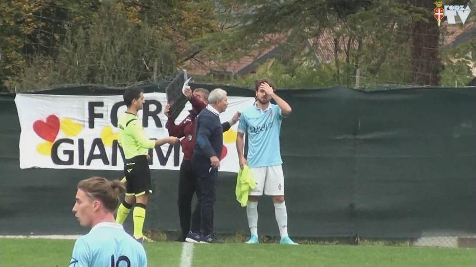 I venti minuti finali di Cavarzano-Treviso saranno gli ultimi di Morbioli in maglia biancoceleste...
