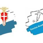 Il primo stemma di Treviso Academy e quello utilizzato fino alla fusione della società con il Nervesa