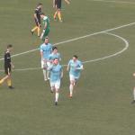 L'esultanza di Paladin dopo il gol del 3-0