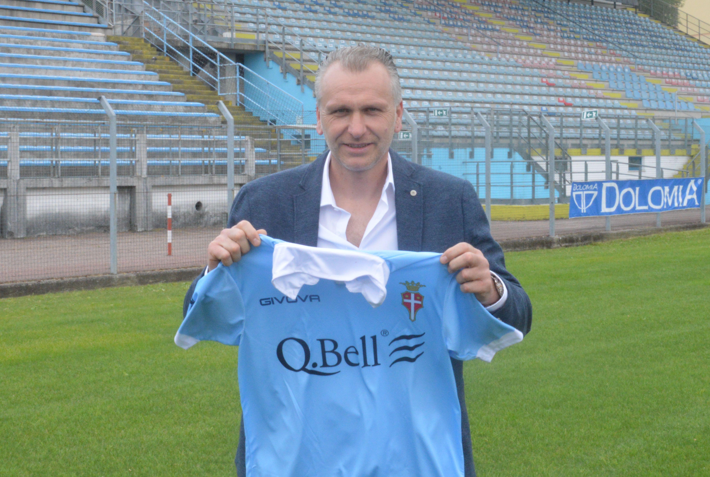 Mister Cunico al Tenni con la maglia del Treviso (foto tuttocampo)