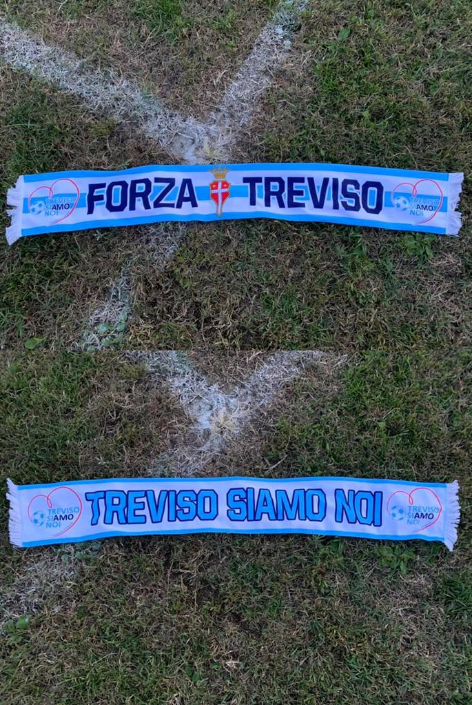 La nuova sciarpa del Treviso calcio